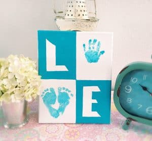 Love Baby Print Canvas! The perfect keepsake!