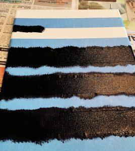 stripe canvas painting