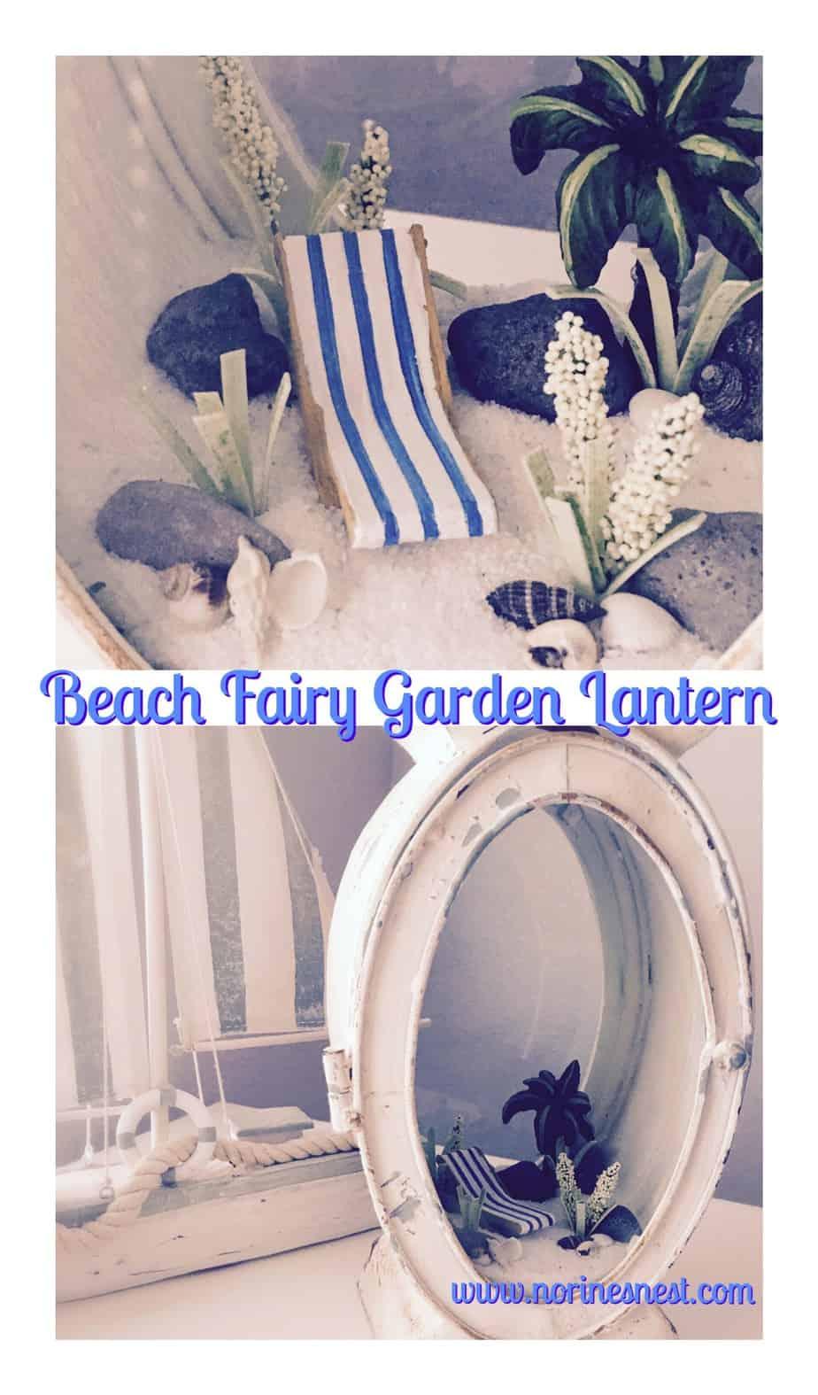 lantern  with a beach look