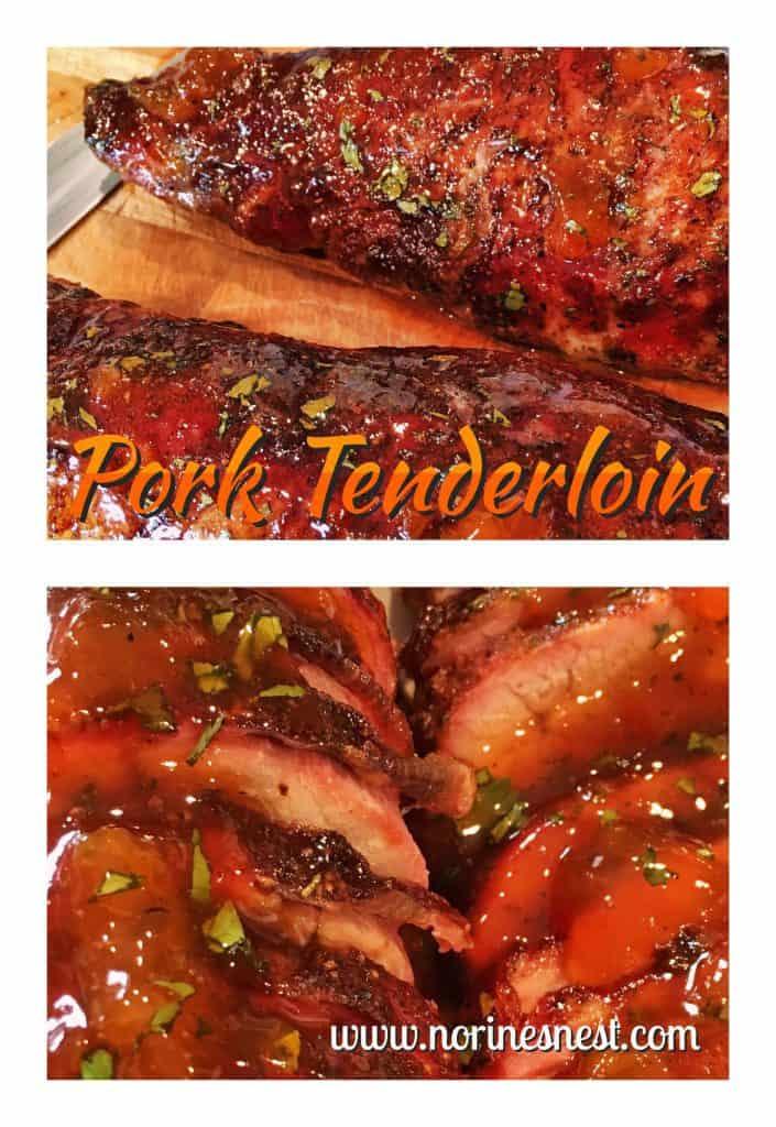 Chili rubbed Apricot glazed Pork Tenderloin