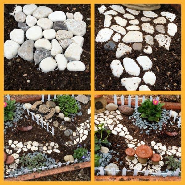 Fairy Garden Set-up Collage