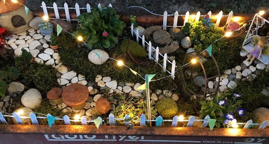 Fairy Garden at Night top view