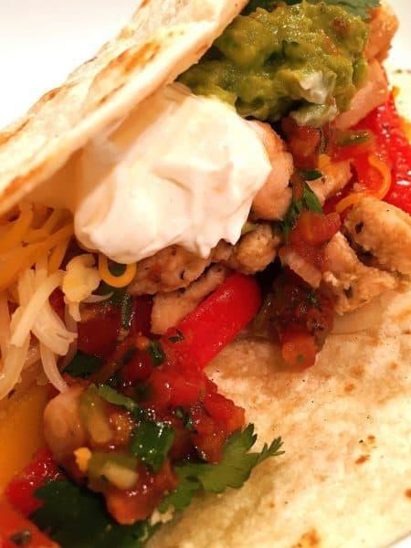 Fajita's with guacamole