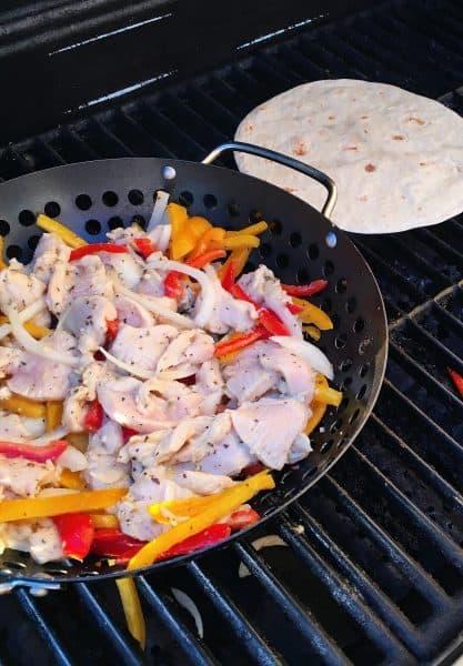 Grilling Fajita's and tortillas