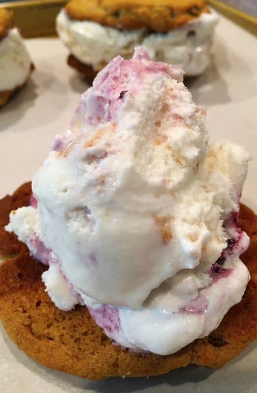 Ice Cream Sandwich Prep with Red Button Ice Cream