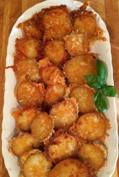 Parmesan Potatoes full plate