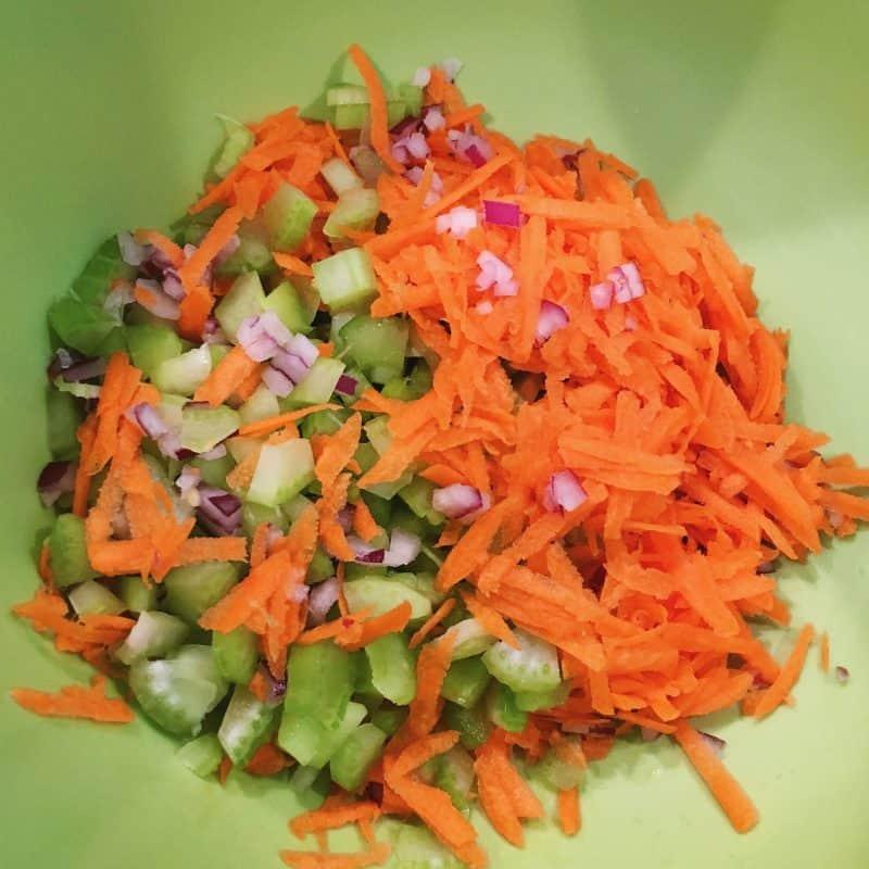 Shrimp Salad Veggies