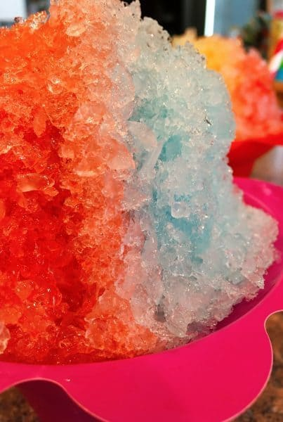 Snow cone red, white, and blue