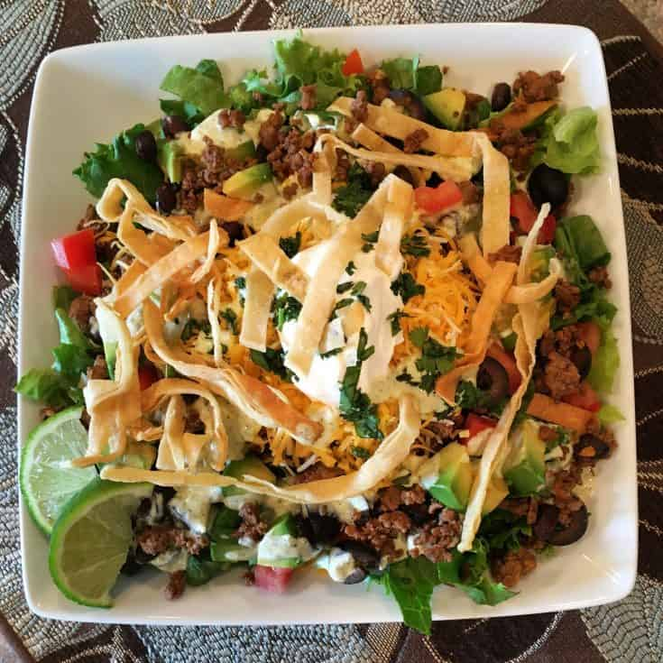 The perfect summertime alternative to Taco's...Taco Salad! A cool and refreshing salad for those hot summer days when all you want is something cool! Enjoy!