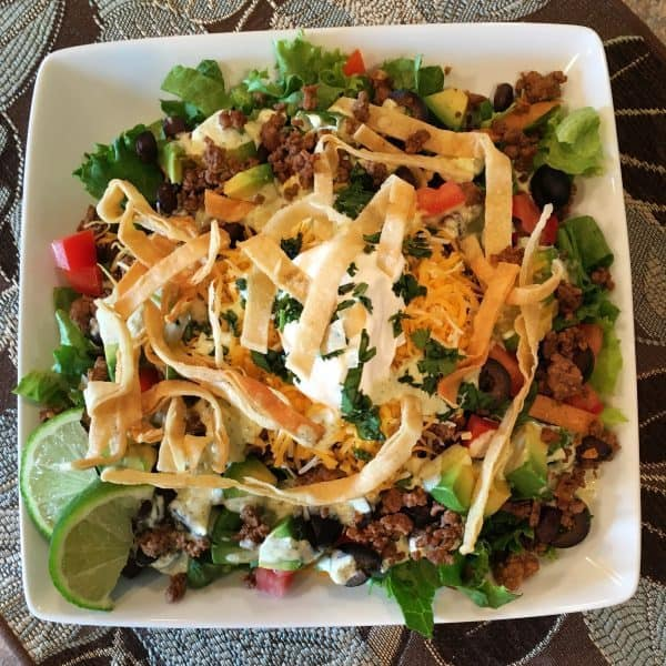 Taco Salad Fill the plate