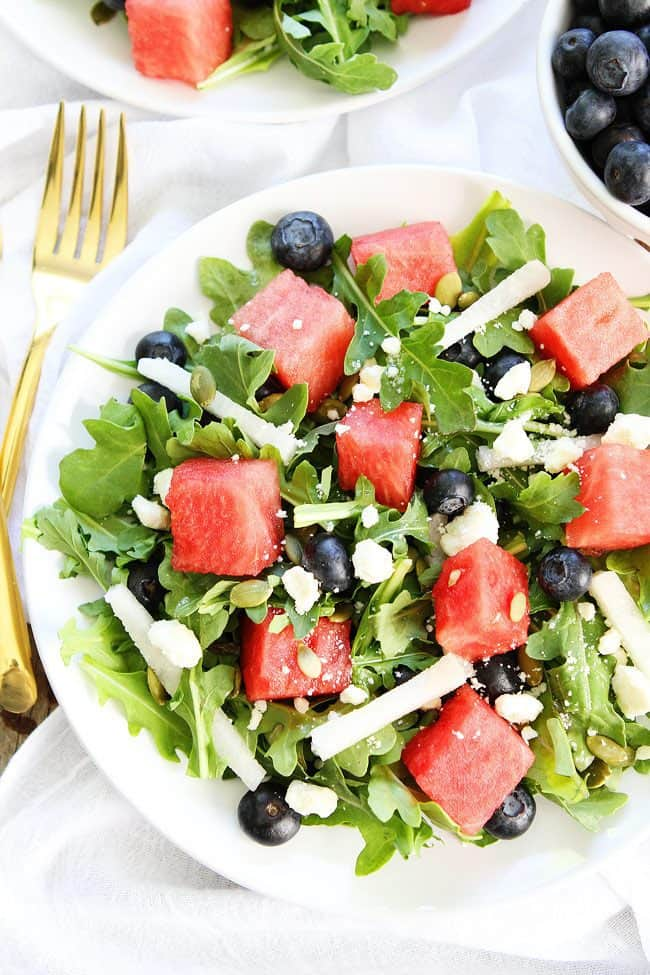 Watermelon-Blueberry-and-Jicama-Arugula-Salad-4