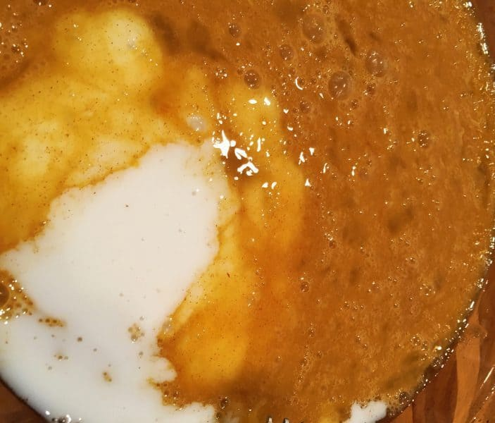 Adding Milk to French Toast Batter