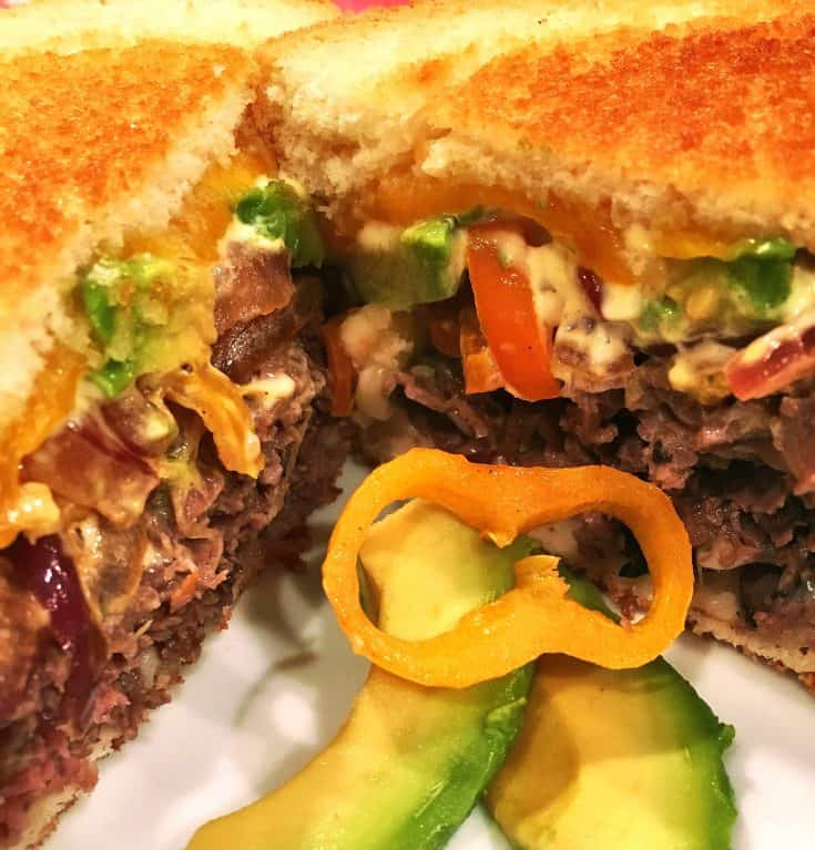 "Roast Beef Grilled Cheese ""Glider"""