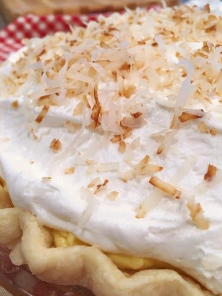 Coconut Cream Pie Close UP
