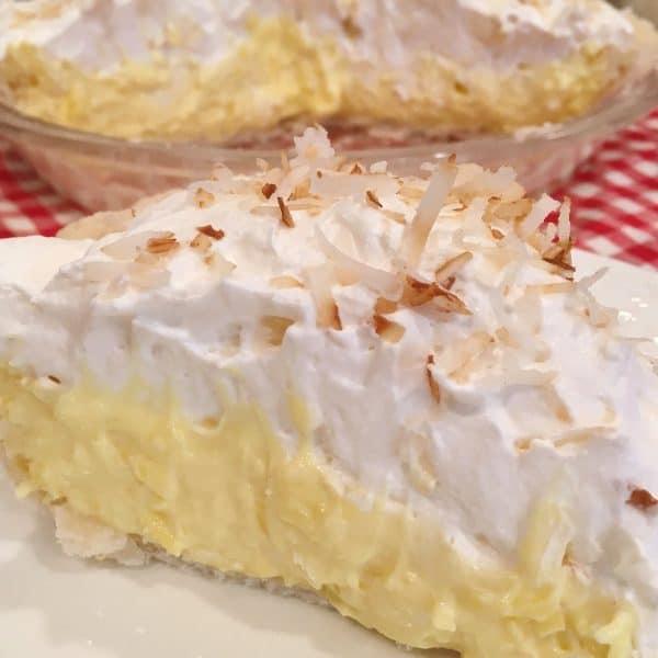 Coconute Cream Pie with pie