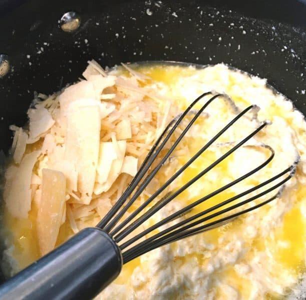 Mixing Alfredo Sauce