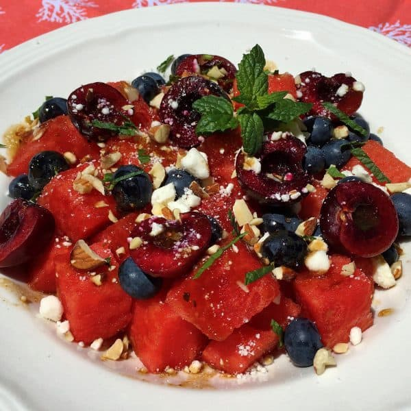 Watermelon and Balsamic Dressing Summer Salad
