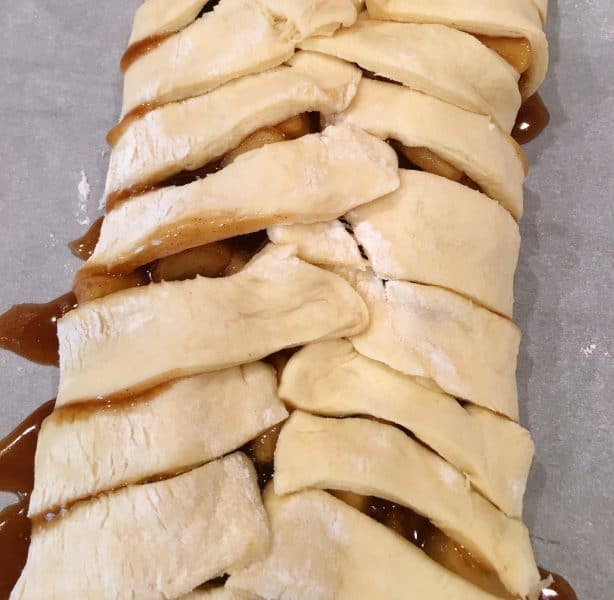 Apple Danish dough bread