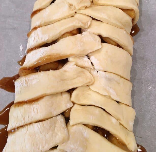 Apple Danish dough bread