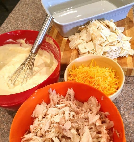 Chicken Tortilla Casserole Prep 8