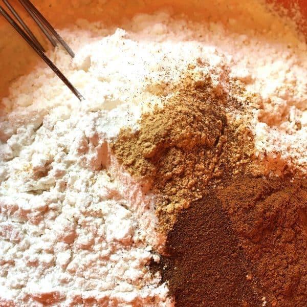 Pumpkin Pound Cake dry ingredients