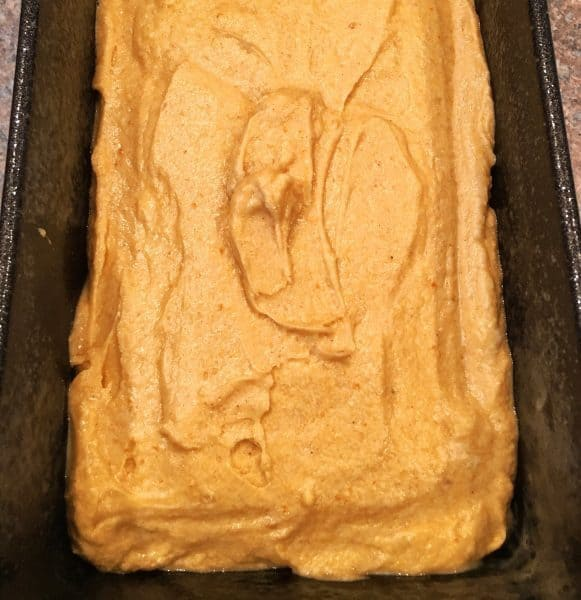 Pumpkin Pound Cake in Bread pan