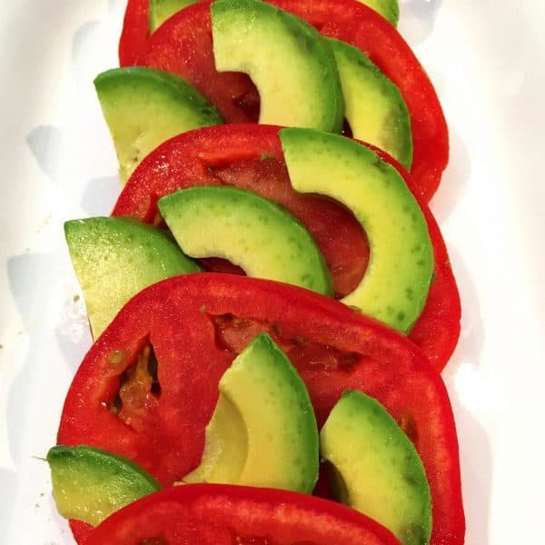 Tomato and Avocado Salad with Pepper
