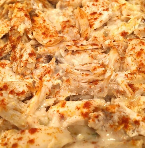 chicken rice casserole after baking