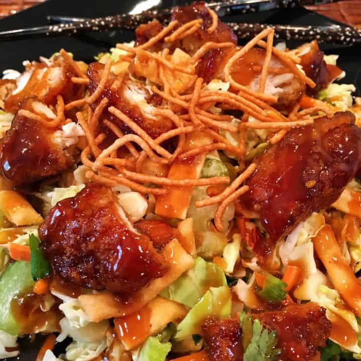 General Tso's Chicken Salad ready to eat