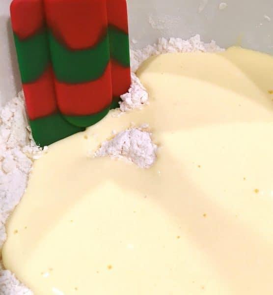 peach-scone-dough-mixing-in-the-liquids