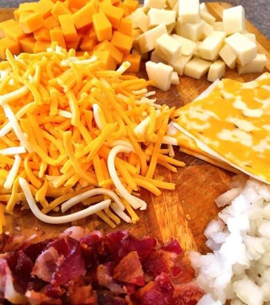 mac n cheese set-up prep