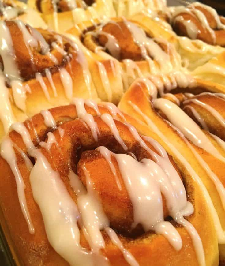 Big, soft, warm, scrumptious cinnamon rolls that are easy peasy thanks to your bread machine!