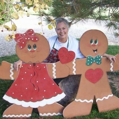 Gingerbread Brenda and her Gingerbread cut-outs