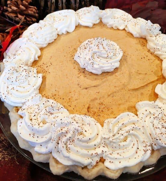 Pumpkin Chiffon Pie | Norine's Nest