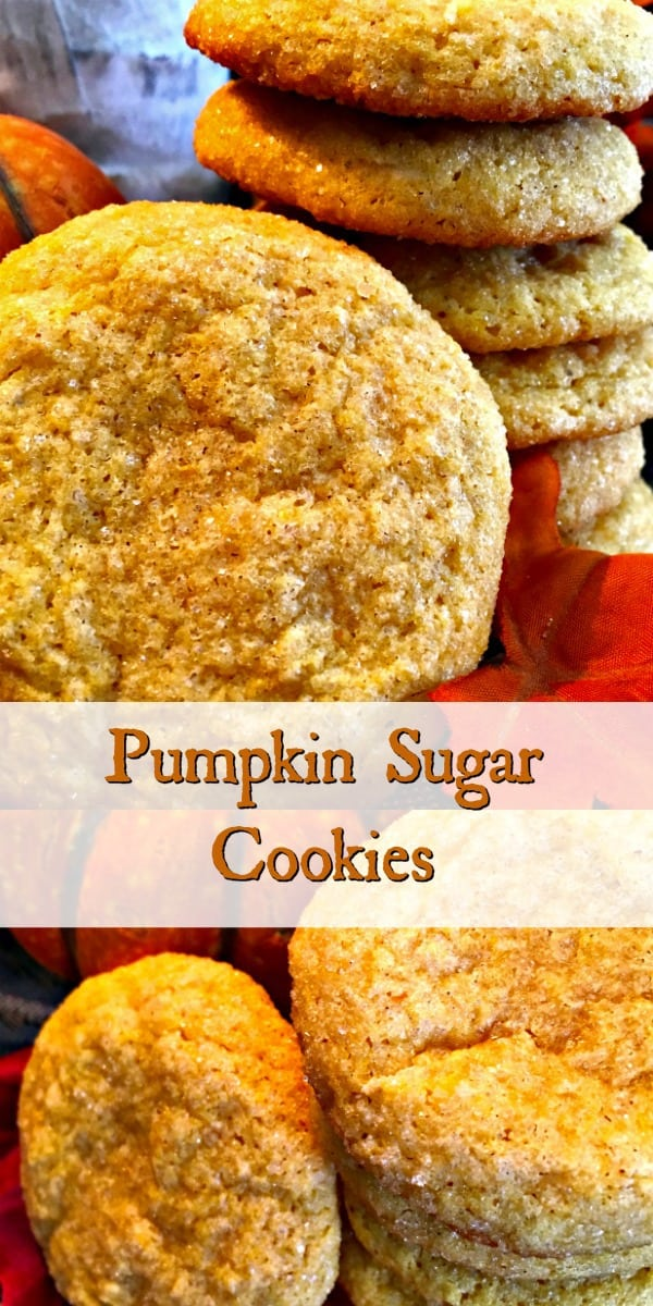 A light and fluffy, melt in your mouth sugar cookie that reminds you of a pumpkin spiced snickerdoodle. Super easy to make and delightfully yummy!