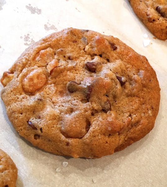 salted-caramel-chocolate-chip-cookie-after-baking