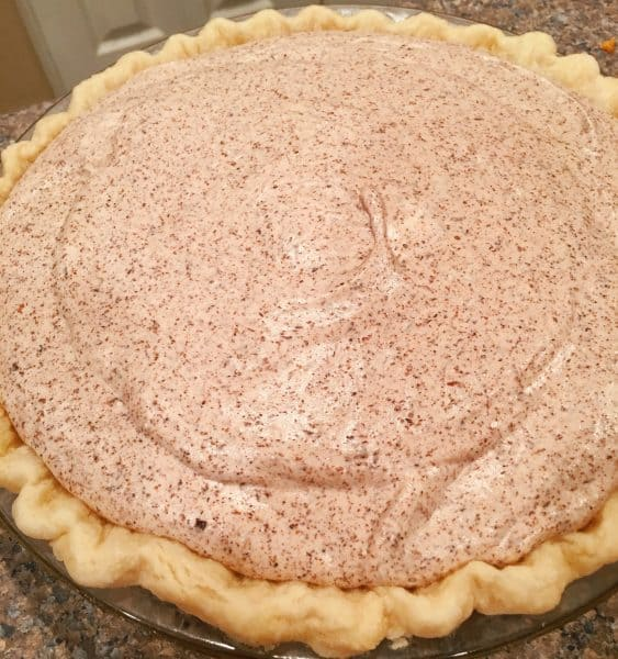 Chocolate Chiffon Pie in Pie Crust
