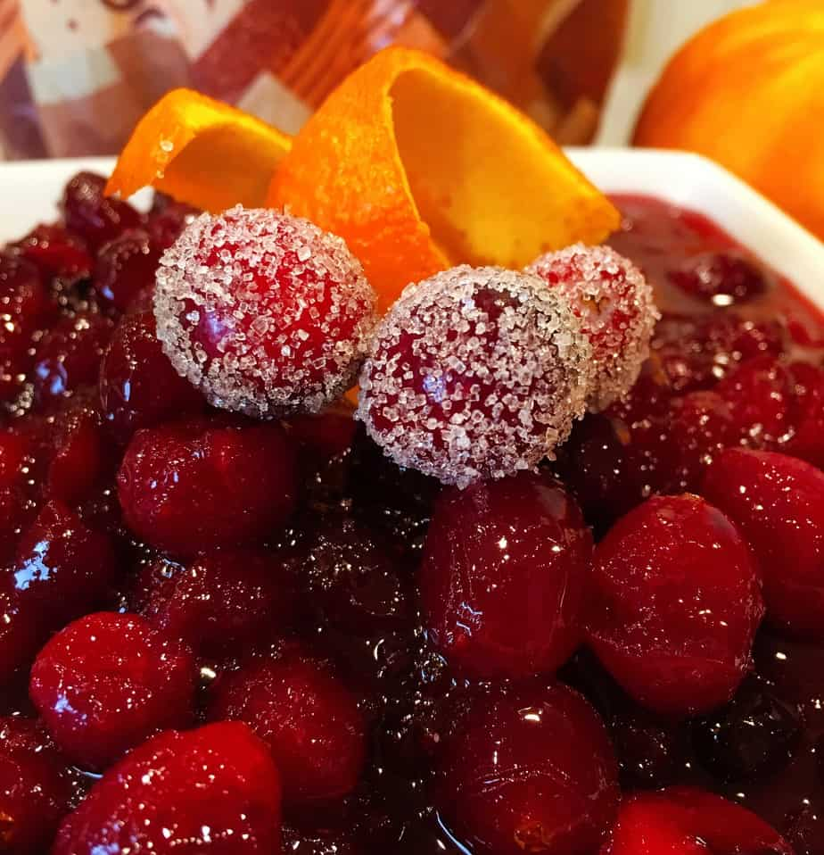 Cranberry sauce with orange and spices