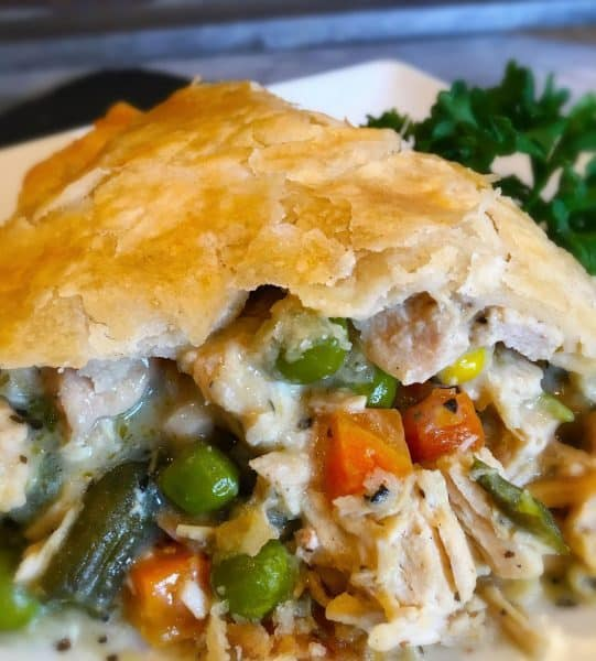 close up of Chicken Pot Pie