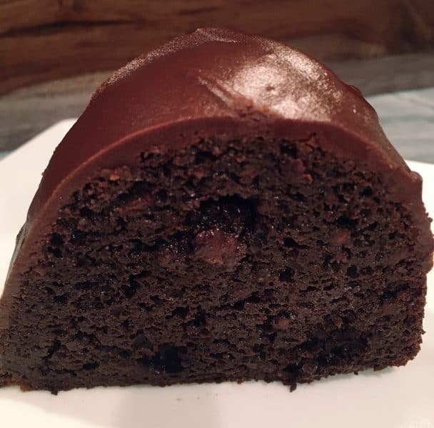 Slice of Too Much Chocolate Cake with Satin Chocolate Frosting