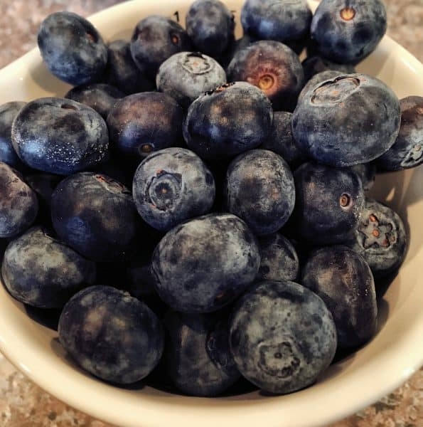Fresh blueberries for blueberry muffins