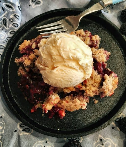 Triple Berry Crumb with Vanilla Ice Cream