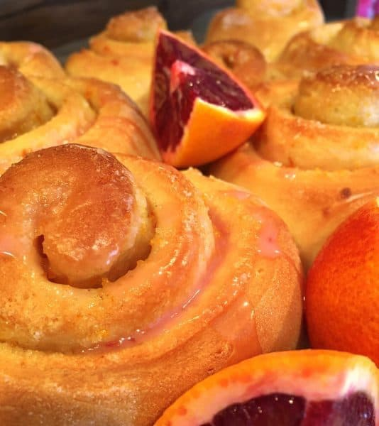 Blood Orange Sweet Rolls