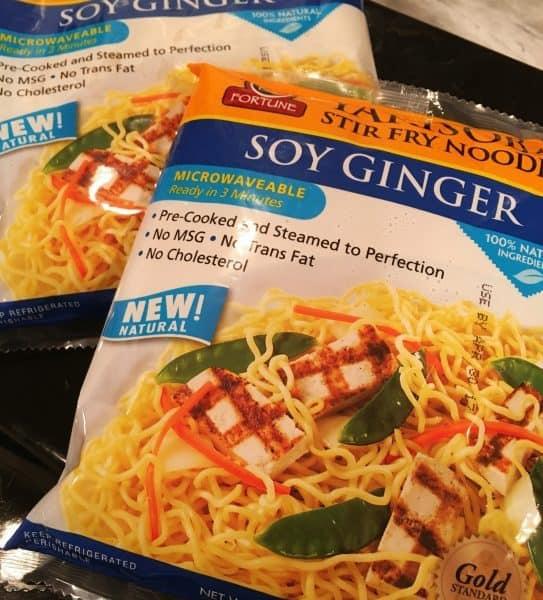 packages of Soy Ginger noodles