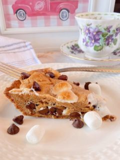 Slice of S'mores Cookie Pie