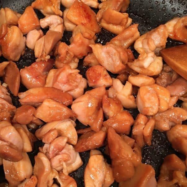 Cooked Teriyaki Chicken Thigh chunks