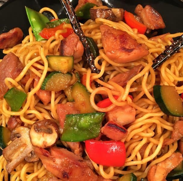 Chicken Teriyaki with Stir Fry Vegetables and Noodles