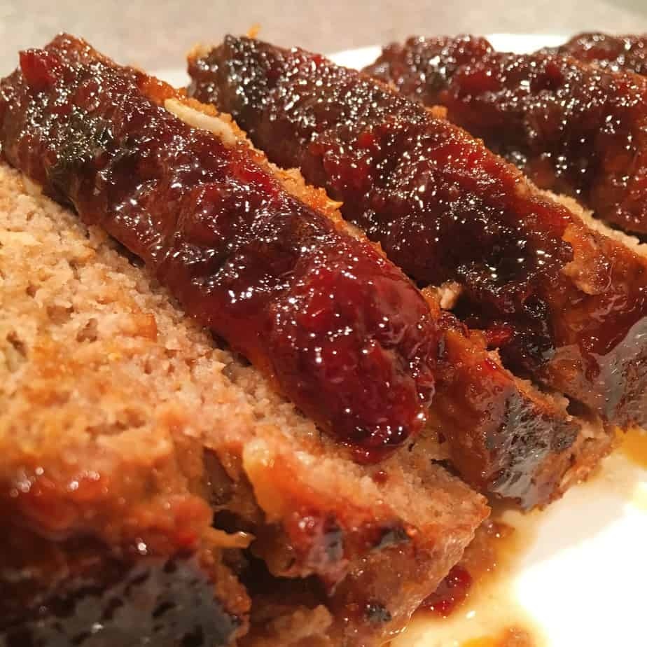 Meat loaf with a brown sugar glaze