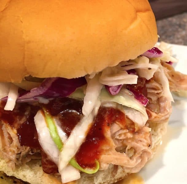 Slow Cooker Pulled Pork Sandwiches with Classic Coleslaw