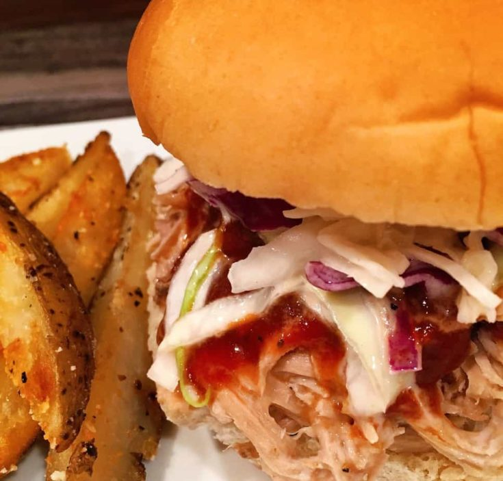 Pulled Pork Sandwiches With Classic Cole Slaw